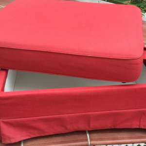 For sale: Ikea red storage footstool - €45